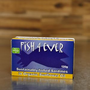Fish 4 Ever Sardines in Organic Sunflower Oil 120g