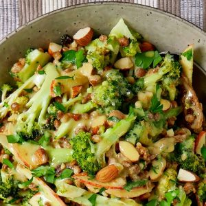 charred broccoli & lentil salad