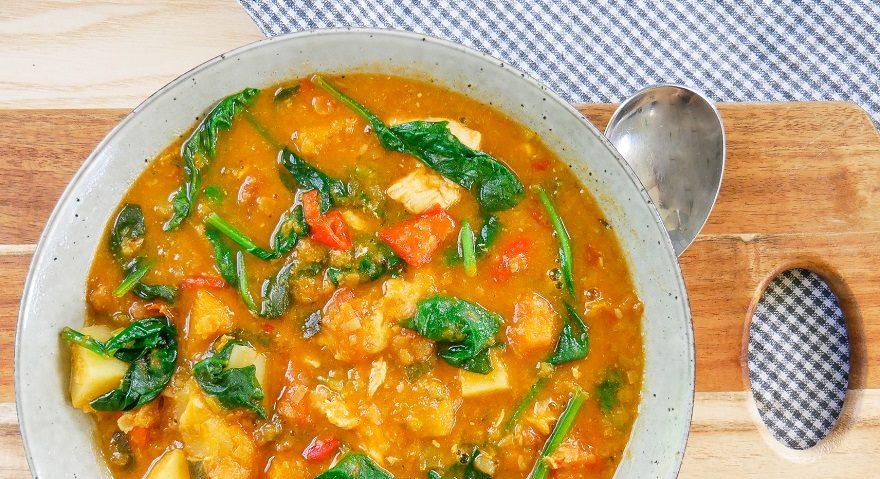 Chicken Tomato Lentil Soup