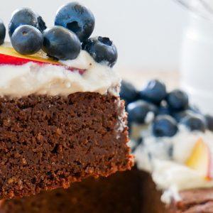 gluten free kombucha chocolate cake