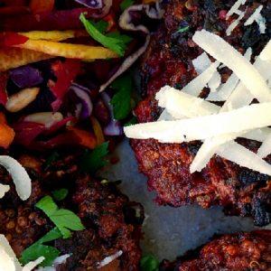 beetroot lamb quinoa rissoles