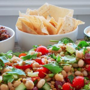 easy lemon bean salad