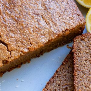 lemon coconut buckwheat cake