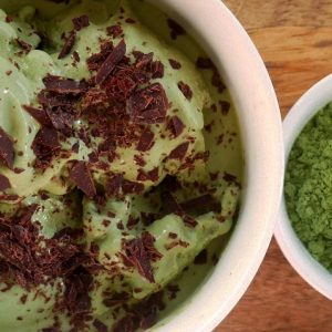 moringa coconut ice-cream