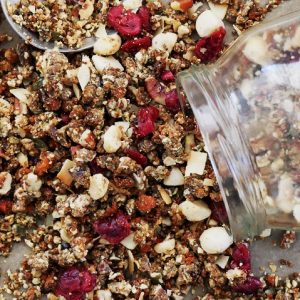 supercharged granola with medicinal mushrooms