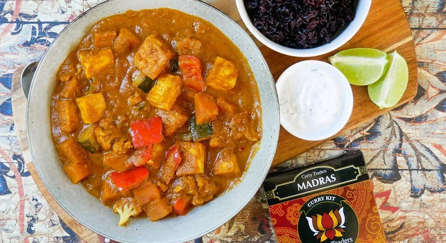 Tofu vegetable madra curry