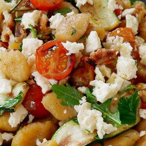 toasted pumpkin gnocchi salad