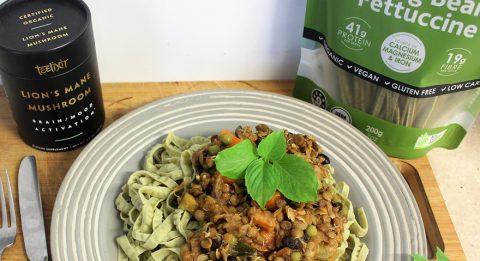 Vegan-Lentil-and-Black-Bean-Bolognaise-with-Lions-Mane-Mushroom