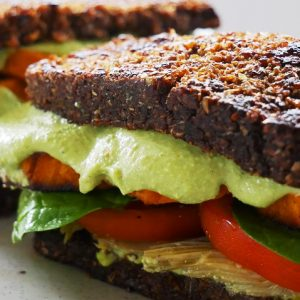 vegan sprouted bread toastie italian-style
