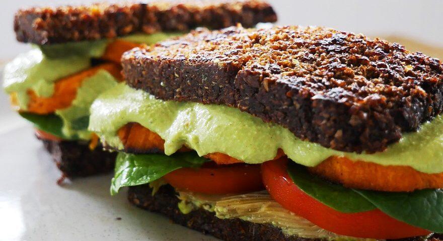 Vegan sprouted bread toastie italian style - Copy