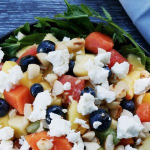 fruit salad with a touch of savoury
