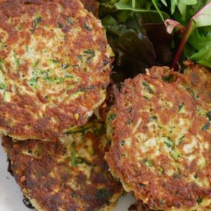 zucchini fritters with za'atar