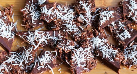 coconut chocolate bark with ashwagandha
